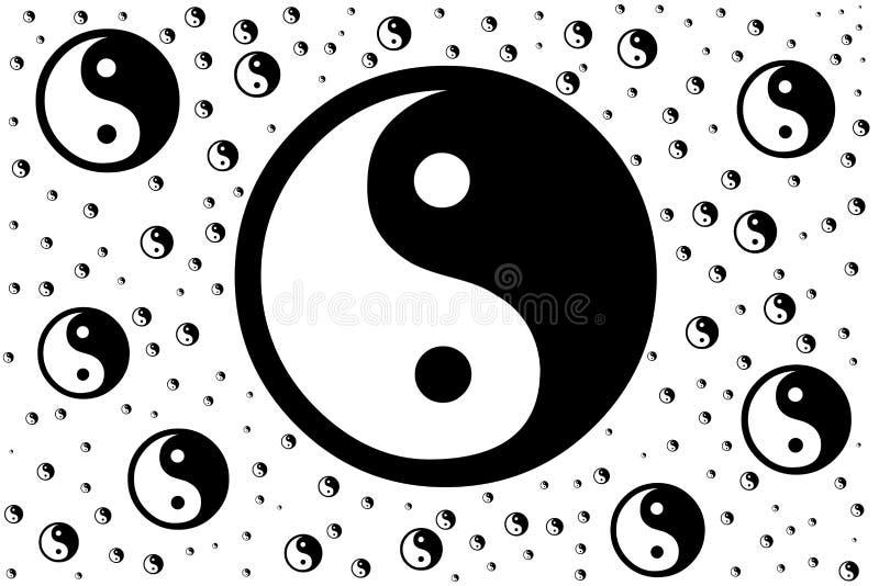 道教yin杨的中国符号 免版税库存图片