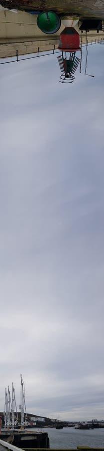 道格拉斯港口,顶上的射击 库存图片