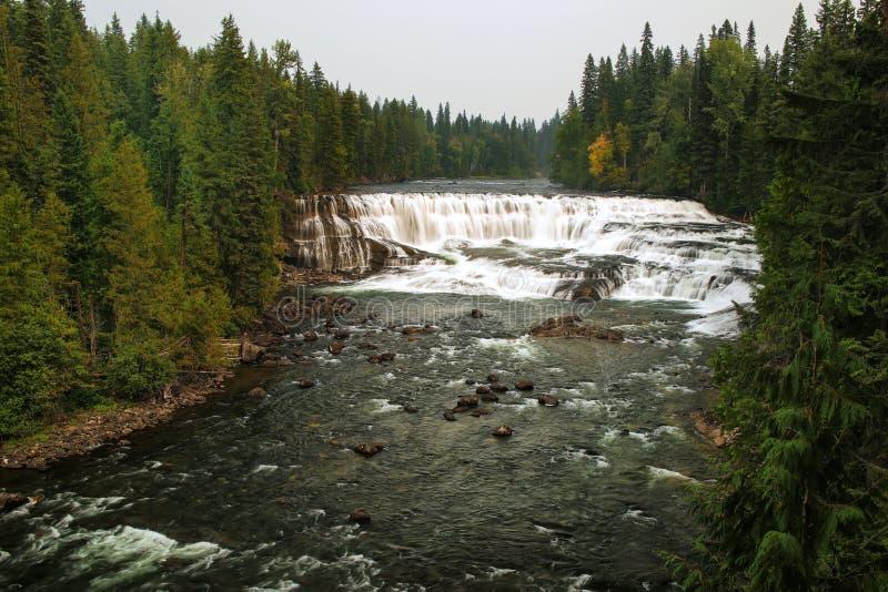 道森在Murtle河跌倒在维尔斯灰色省公园,不列颠哥伦比亚省,加拿大 库存图片