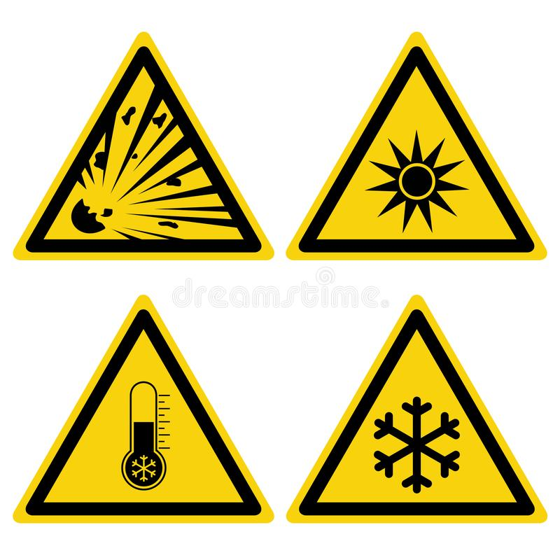 道路危险标志集合 向量例证