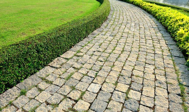 道路和草坪 免版税图库摄影