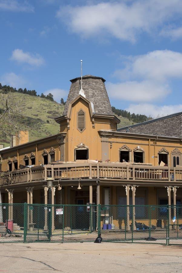 遗产正方形,科罗拉多的爆破在金黄的 免版税库存图片