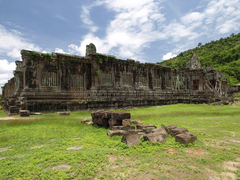 遗产老挝phou大桶世界 免版税库存图片