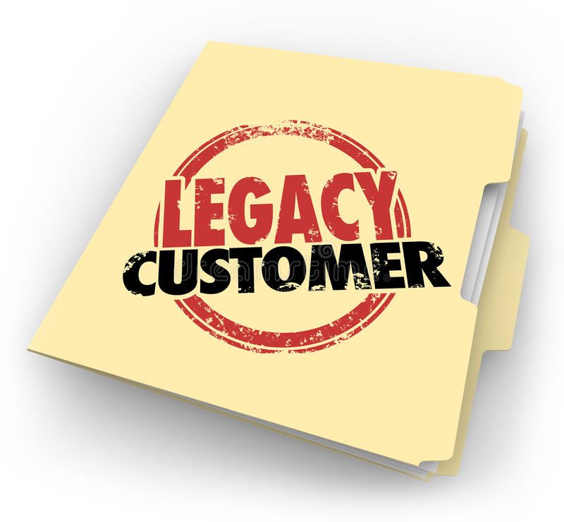 遗产顾客词盖印了文件夹忠诚的买家客户文件 皇族释放例证