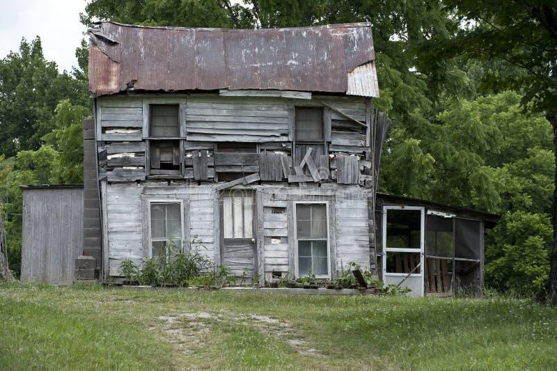 遗弃农厂房子 库存照片