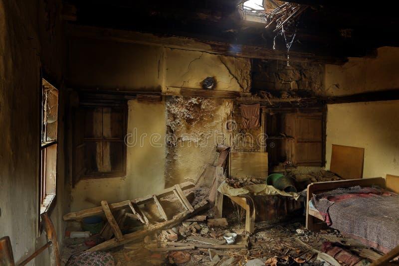 遗弃卧室 库存照片