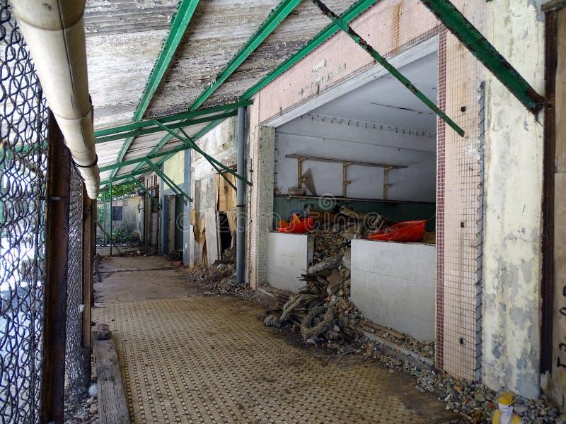 遗弃商店线在马湾鬼城在香港 免版税库存照片