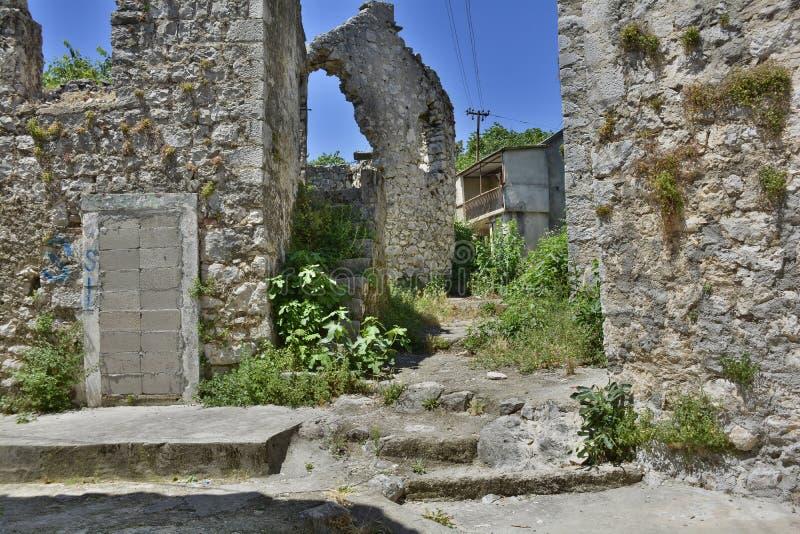 遗弃大厦在特雷比涅 免版税库存图片
