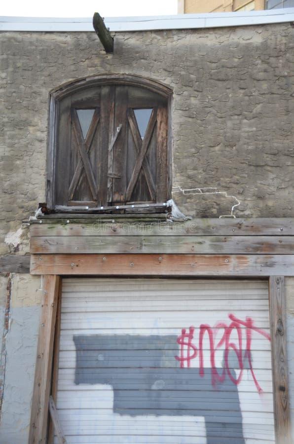 遗弃客车房 库存图片
