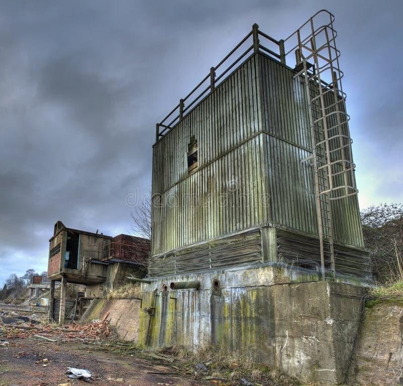 遗弃工厂 免版税库存照片
