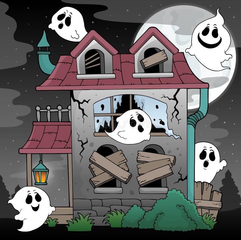 遗弃房子和鬼魂题材2 向量例证
