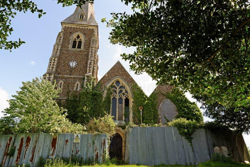 遗弃教会在英国 免版税库存图片