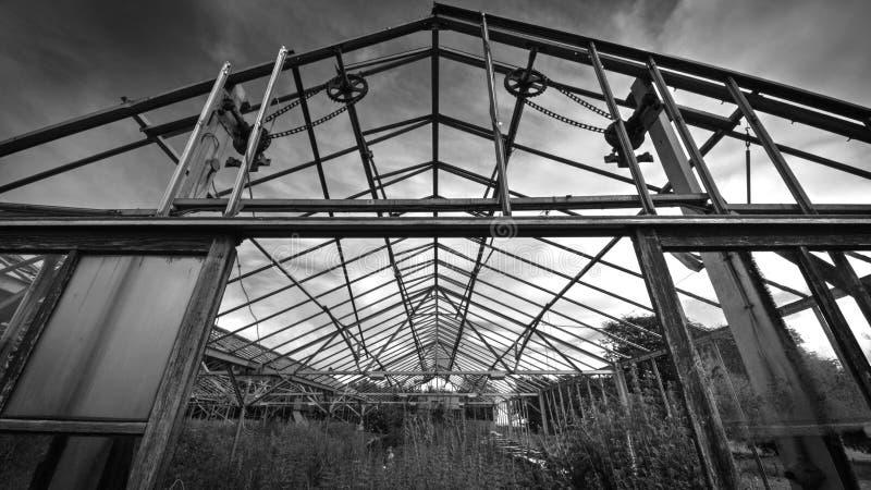 遗弃温室 库存图片