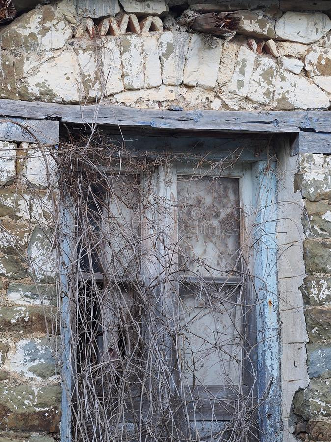 遗弃石大厦,希腊 库存图片