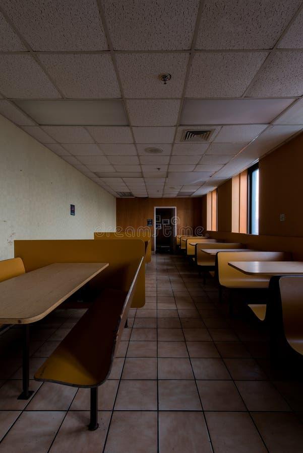 遗弃自助食堂-被放弃的退伍军人医院-匹兹堡,宾夕法尼亚 免版税库存图片