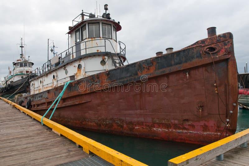 遗弃船 库存图片
