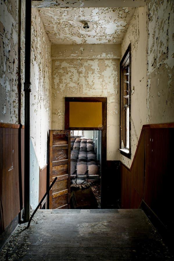 遗弃走廊- Alderson学院-西维吉尼亚 免版税库存照片