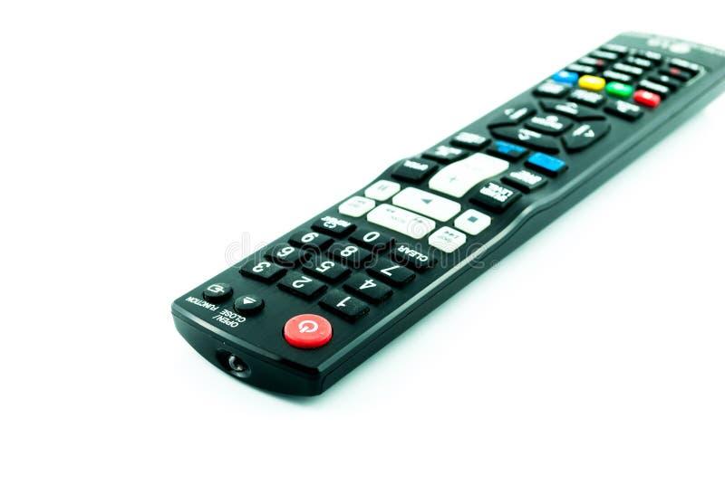 遥控的电视 免版税库存图片