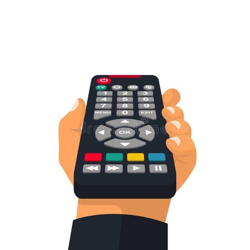 遥控藏品在手中 向量例证