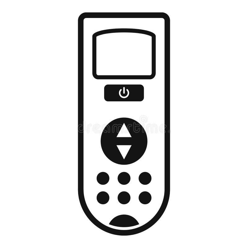 遥控调节剂象,简单的样式 皇族释放例证