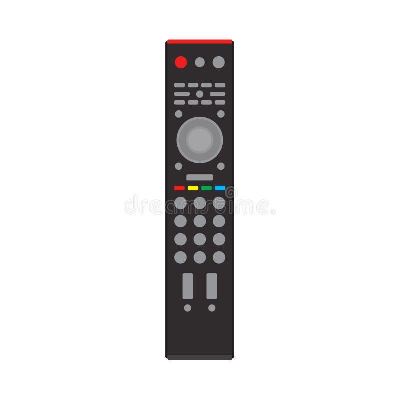 遥控黑电视设备设备通信标志媒介传染媒介象 平的聪明的电视 库存例证
