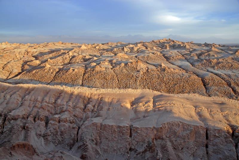 遥控,瓦尔de la月/月球贫瘠火山的风景,在阿塔卡马沙漠,智利 库存照片