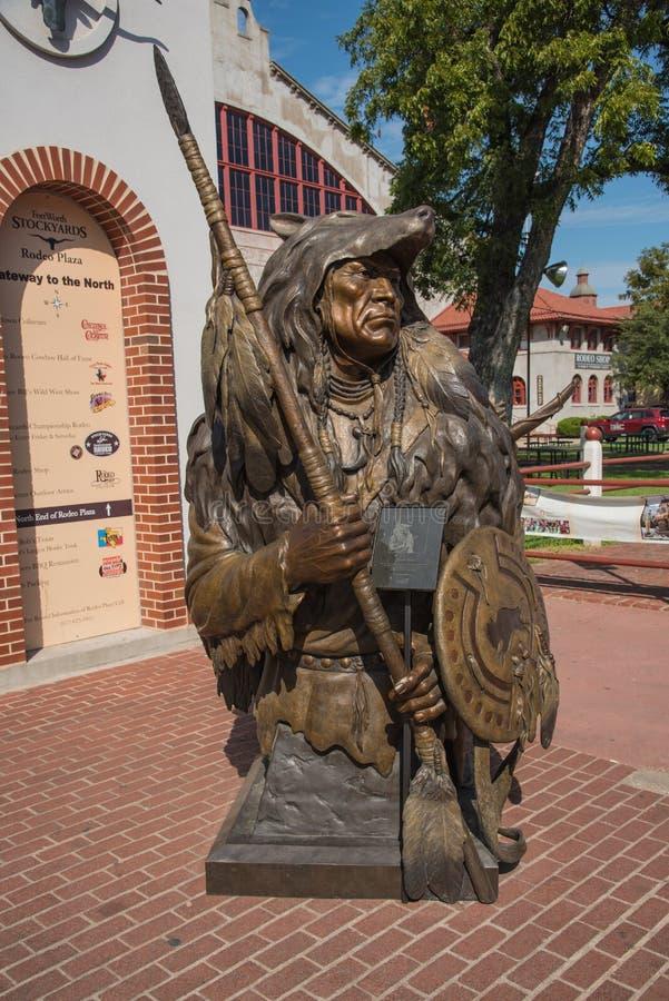 遥远的希望雕象在沃斯堡,得克萨斯 库存照片