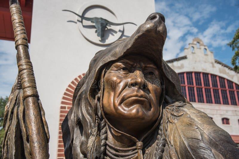 遥远的希望雕象细节在沃斯堡,得克萨斯 免版税库存图片
