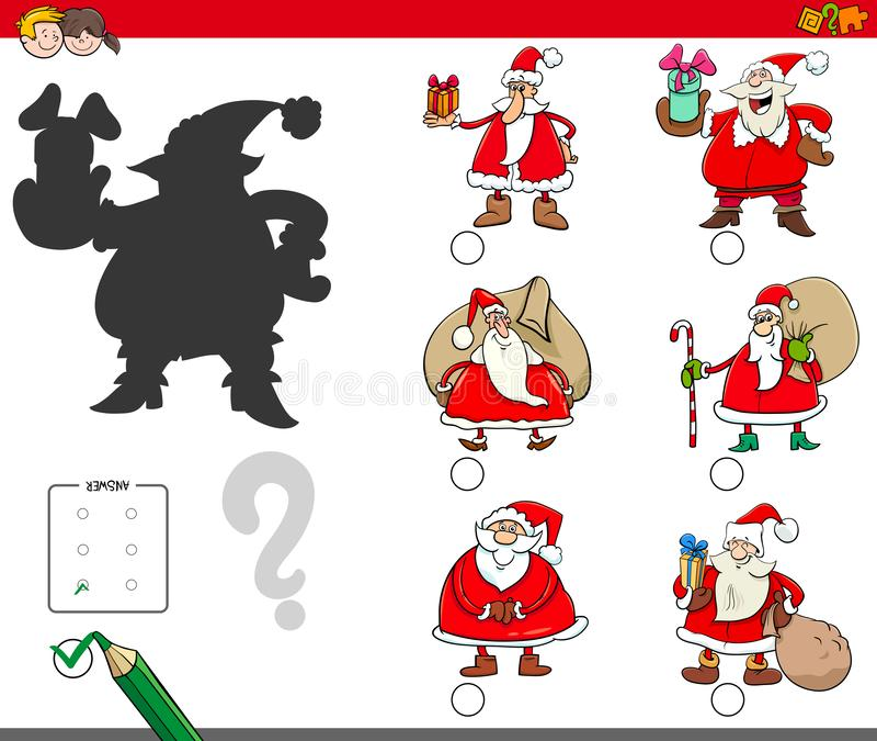 遮蔽与动画片圣诞老人项目的比赛 皇族释放例证