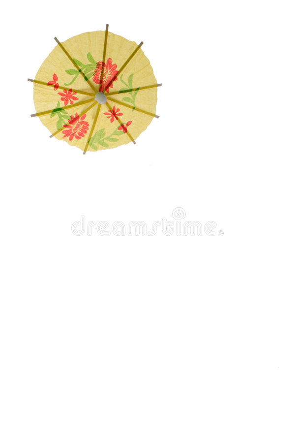 遮阳伞黄色 库存照片