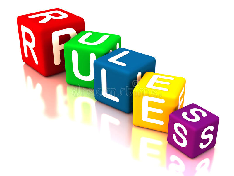 遵循规则 库存例证