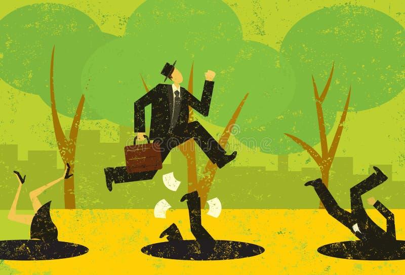 避免企业陷阱 向量例证