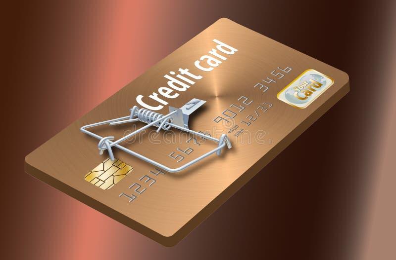 避免信用卡陷井,象看起来象信用卡把变成捕鼠器的这一个 皇族释放例证