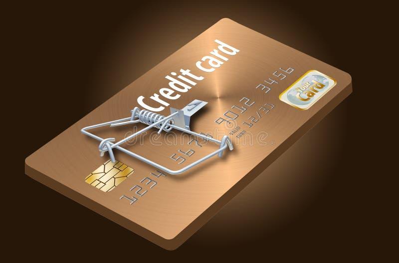 避免信用卡陷井,象看起来象信用卡把变成捕鼠器的这一个 库存例证