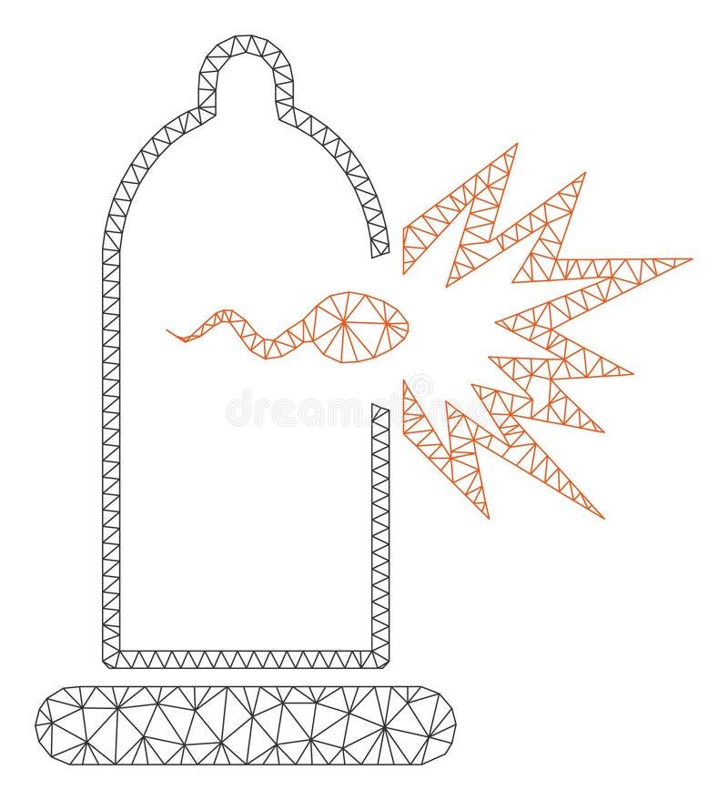 避孕套精液逃命多角形框架传染媒介滤网例证 库存例证