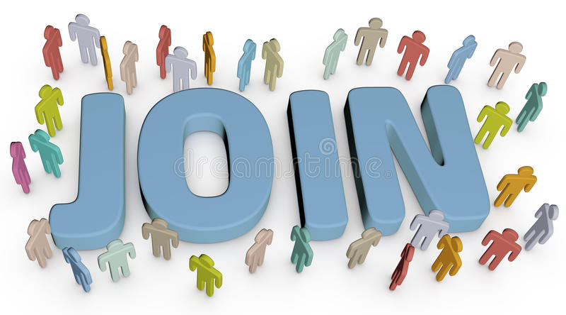 邀请人加入社会企业站点 向量例证