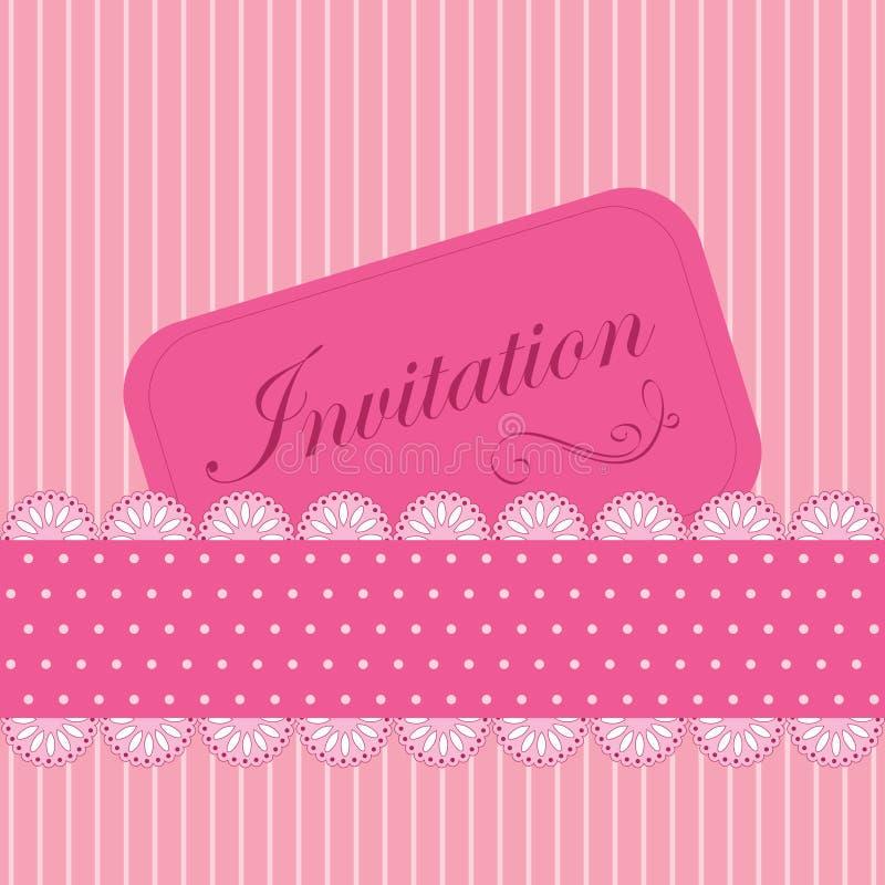 邀请粉红色 皇族释放例证