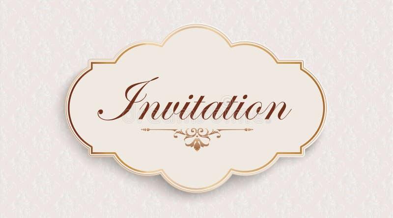 邀请高尚的丝带装饰墙纸倒栽跳水 皇族释放例证