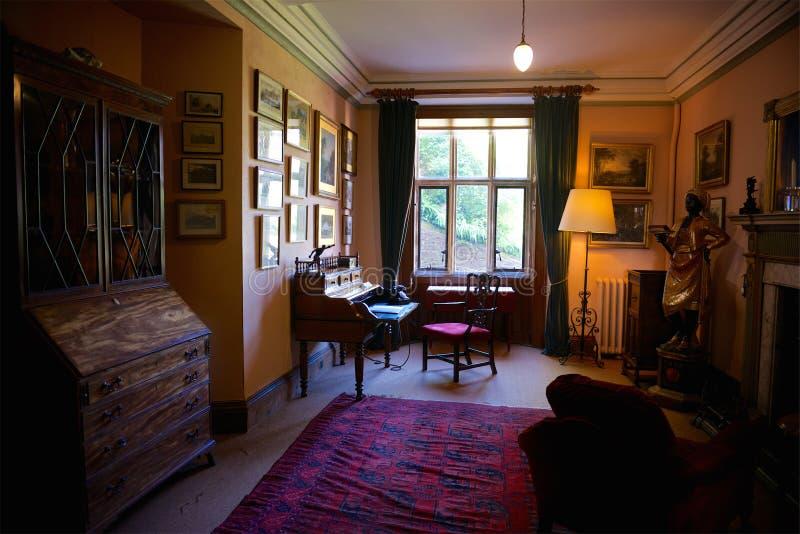 邓斯特城堡,全国信任,萨默塞特,英国 图库摄影