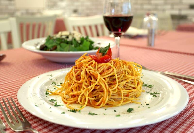 那不勒斯的意大利面食 免版税图库摄影