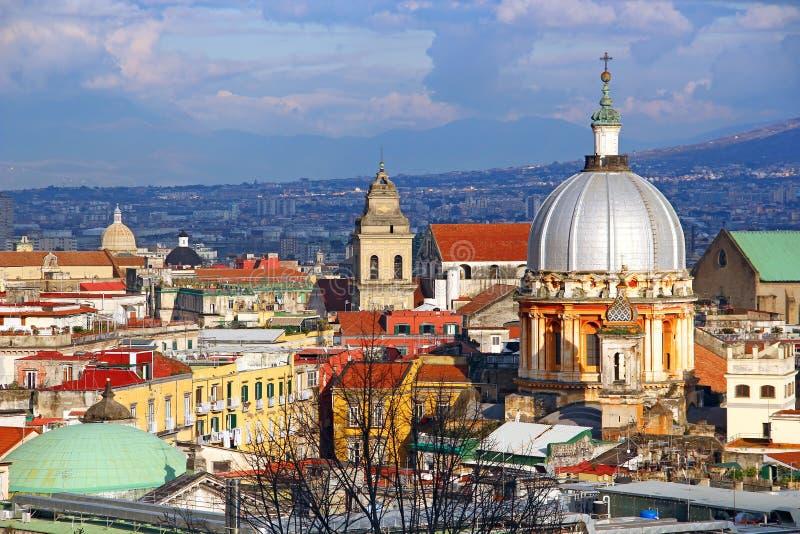 那不勒斯老镇,意大利 库存图片