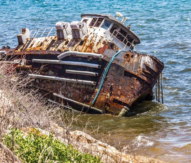 那个沉船的老女孩 库存照片