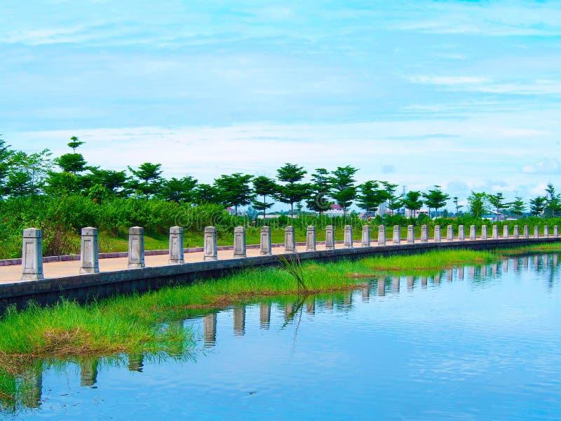那个luang湖在老挝PDR 库存图片
