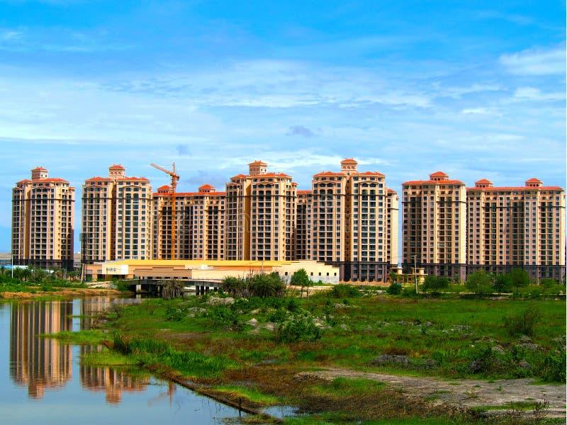 那个luang湖在老挝PDR 库存照片
