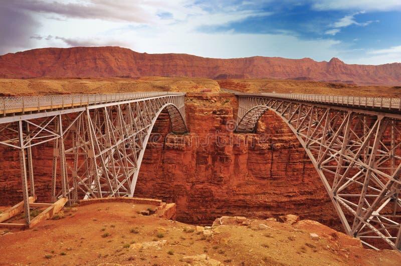 那瓦伙族人桥梁大理石峡谷 库存照片