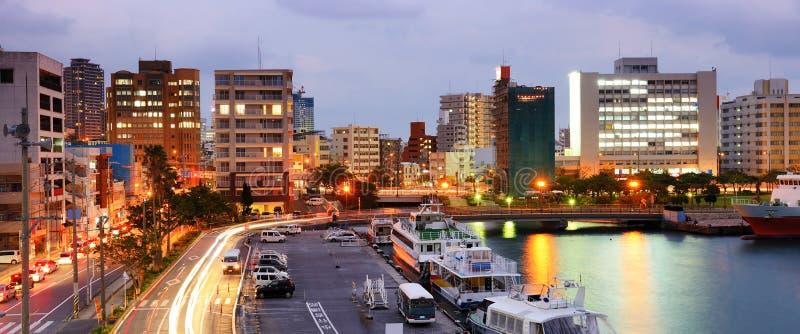 那霸,冲绳岛都市风景 库存图片