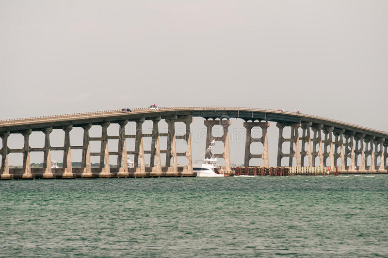 邦纳桥梁,俄勒冈入口 免版税库存照片