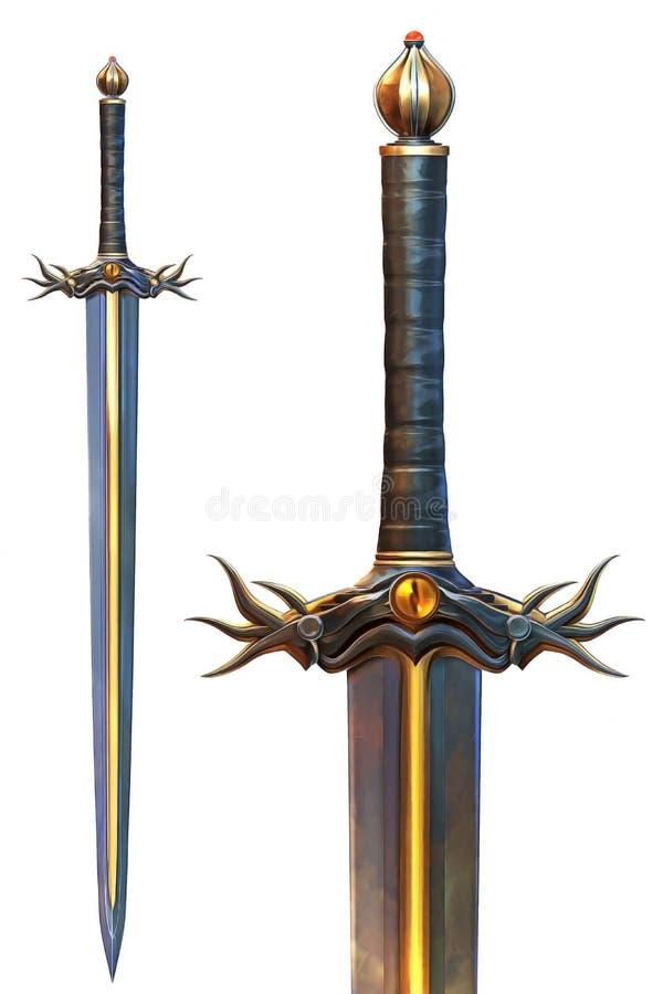 邪恶的剑 皇族释放例证