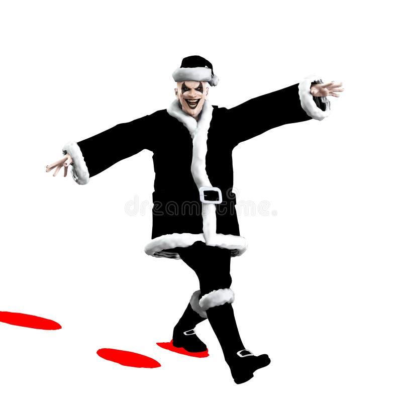邪恶的圣诞老人 免版税库存图片