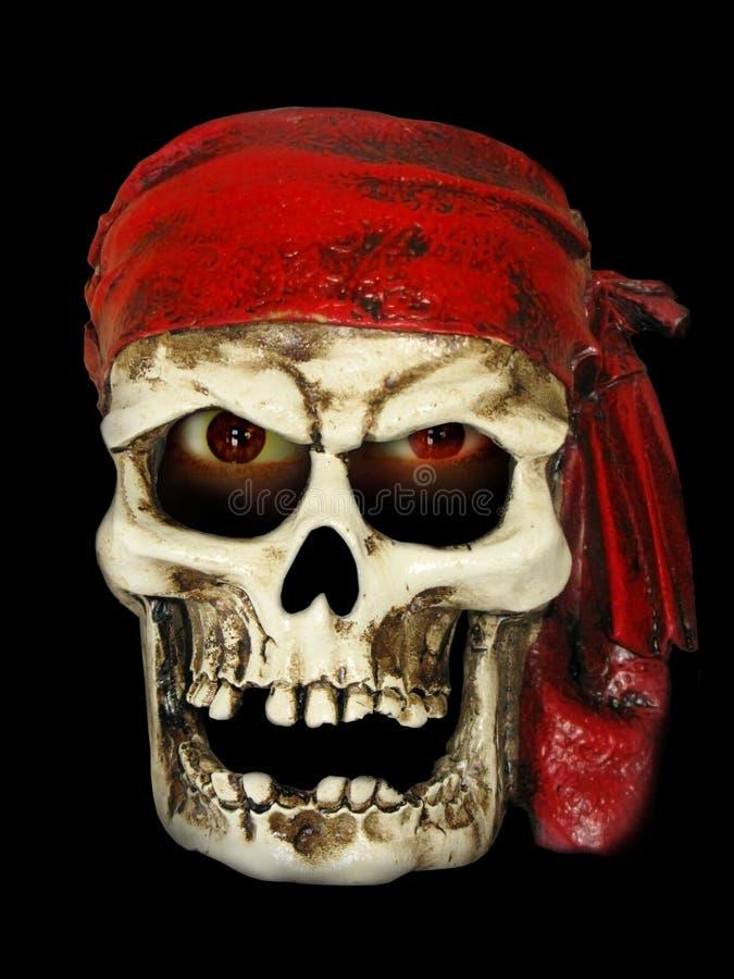 邪恶的海盗头骨 免版税图库摄影